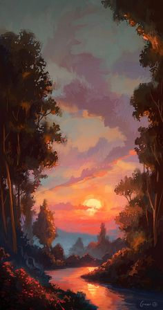 The sun set upon another day on the road. Another day in which they had not seen another soul wandering. Fantasy Art Landscapes, Fantasy Landscape, Landscape Art, Landscape Paintings, Japan Landscape, Landscape Fabric, House Landscape, Landscape Pictures, Landscape Lighting