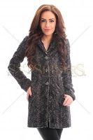 Palton PrettyGirl Elegancy Black (PrettyGirl) Fur Coat, Jackets, Black, Fashion, Down Jackets, Moda, Black People, Fashion Styles, Fashion Illustrations