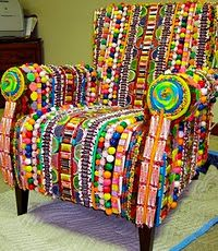 Candy Chair - WOW. .... I need this! It would be so cool to have this!!!