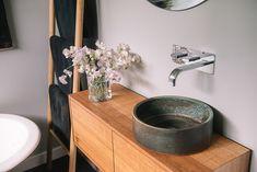 Handmade ceramic basins by Tasmanian ceramicist Lindsey Wherrett. Ceramic Sink, Ceramic Planters, Upstairs Bathrooms, Downstairs Loo, Ceramic Christmas Trees, Basin Sink, Vintage Shabby Chic, Handmade Ceramic, Interior Design