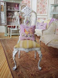 Cottage Rooster Chair by MaritzaMiniatures on Etsy
