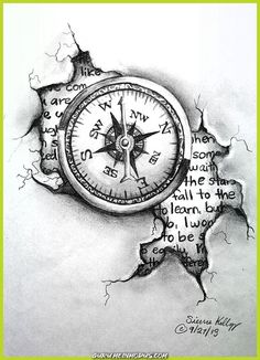 28 Ideas For Travel Drawing Compass Tattoo Designs Compass Drawing, Compass Tattoo Design, Vintage Compass Tattoo, Clock Tattoo Design, Clock Drawings, Tattoo Drawings, Tattoo Sketches, Trendy Tattoos, Cool Tattoos