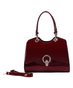 Look what I found on #zulily! MKF Collection Wine Buckle Patent Satchel by MKF Collection #zulilyfinds