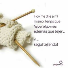 frases chulas para tejedoras-otakulandia.es (64) Crochet Humor, Knit Crochet, Knitting Quotes, Crochet For Beginners, Lana, Crochet Necklace, Hair Accessories, Make It Yourself, Wool