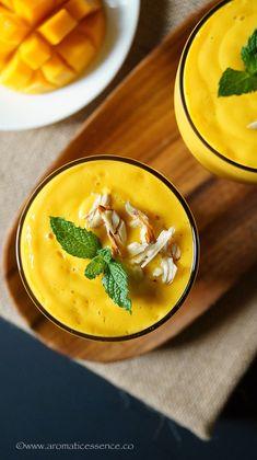 Mango Lassi Recipe (Using Mango Pulp) Indian Food Recipes, Asian Recipes, Ethnic Recipes, Recipe Using Mango Pulp, Mango Lassi Recipes, Snack Items, Fresh Cream, Lose Weight Naturally, So Little Time