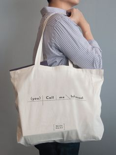 Pop Chart Lab --> Design + Data = Delight --> Moby Dick Sentence Diagram Tote Bag
