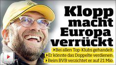 Bei Top-Klubs gehandelt: Jürgen Klopp macht Europa verrückt http://www.bild.de/sport/fussball/juergen-klopp/macht-europa-verrueckt-40576146.bild.html