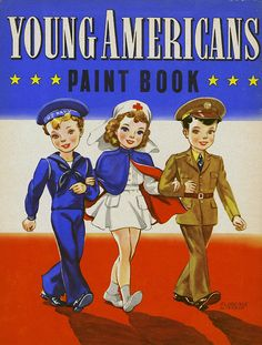 """Young Americans Paint Book"" Florence Winship cover"