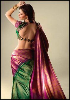 Love this saree blouse