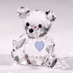 CRYSTAL WORLD Birthstone Bear- March