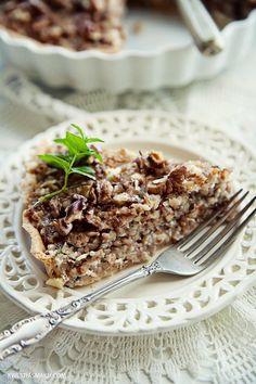 autumn mushroom tart