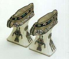 Manchu high platform shoes, Qing Dynasty, Forbidden City collection (probably worn by the Empress Dowager Cixi).