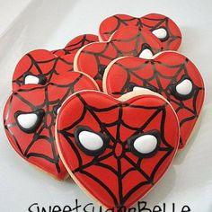 spiderman theme sugar cookies tutorial link