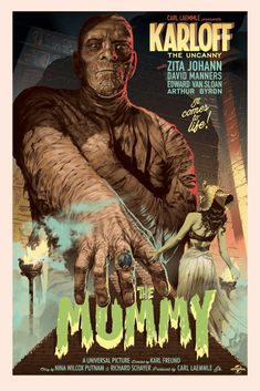The Mummy movie poster Fantastic Movie posters movie posters movie posters movie posters movie posters movie posters movie Posters Classic Monster Movies, Classic Horror Movies, Classic Monsters, Retro Horror, Vintage Horror, Old Movie Posters, Movie Poster Art, Print Poster, Mummy Movie