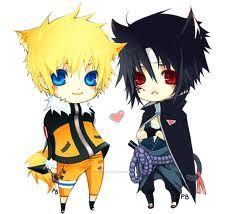 Chibi sasuke and naruto