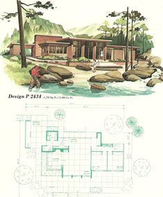 Perfect Beach House....Vintage House Plans, vacation homes, 1960s