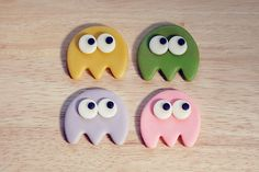 Video Game Monsters-Ghosts fondant toppers. $16.00, via Etsy.