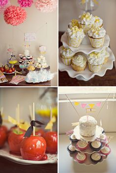 love the popcorn cupcakes!!!!!!!!!Vintage Circus Birthday Party