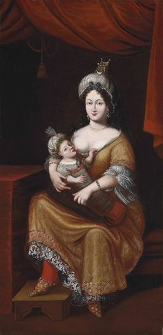 KÖSEM SULTAN AND HER SON, AUSTRIAN SCHOOL, SECOND QUARTER 17TH CENTURY