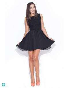 Look at this Katrus Black Fit Flare Dress on today! Date Night Fashion, Cute Dresses, Formal Dresses, Lingerie, Fashion Books, I Love Fashion, Women's Fashion, Fit Flare Dress, Ready To Wear