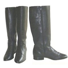 Vintage 1980s Black Leather Riding Style Boots 8  #HuntClub #Boots
