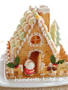 ヘクセンハウス お菓子の家 はちみつ入りののばしやすい生地で作るお菓子の家。