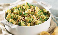 Gnocchi de abóbora, uma opção muito italiana, com coentros em substituição do tradicional manjericão.