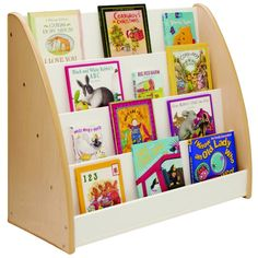 NewWave Book Display - Melamine - Whitney Brothers to be placed against a wall, this one-sided, four-shelf display works in any classroom. Ready to assemble. Toddler Furniture, School Furniture, Library Furniture, Classroom Furniture, Nursery Furniture, Book Display Shelf, Book Storage, Storage Ideas, Kids Bookcase