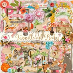 Woodland Baby Scrapbook Collection