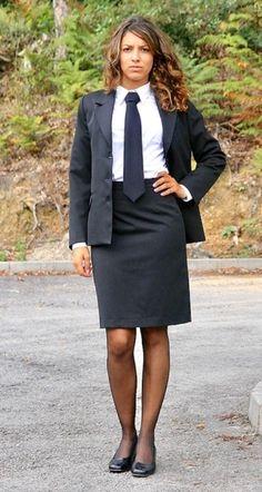 Sexy Skirt, Skirt Suit, Dress Skirt, Women Ties, Suits For Women, Ladies Suits, Work Uniforms, Girls Uniforms, Skirt Outfits