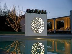 New Lighting Design Exterior Planters Ideas Contemporary Outdoor Lighting, Landscape Lighting, Modern Contemporary, Modern Design, Outdoor Walls, Outdoor Decor, Outdoor Wall Art, Outdoor Ideas, Outdoor Living