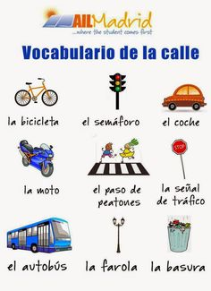 La calle vocabulario ✿ Spanish Learning/ Teaching Spanish / Spanish Language / Spanish vocabulary / Spoken Spanish ✿ Share it with people who are serious about learning Spanish! Spanish Grammar, Spanish Vocabulary, Spanish Language Learning, Spanish Teacher, Spanish Classroom, Study Spanish, Spanish Lesson Plans, Spanish English, Spanish Lessons