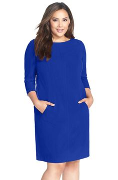 nordstrom plus size denim dress