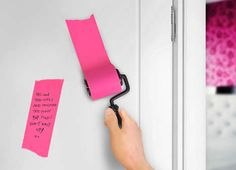 Paint Roller Note Pads - The 'Roller Notes Sticky Note Roll' is a Fun Way to Leave Behind Messages