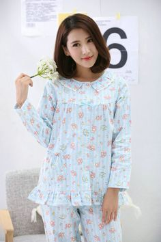 Foreign children's daily necessities children's pajamas girls long-sleeved cotton flannel spring and autumn cotton cute cartoon home suits - Taobao