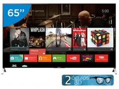 "Smart TV LED 4k Ultra HD 3D 65"" Sony XBR-65X905C - Conversor Integrado 4 HDMI 3 USB Wi-Fi"