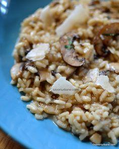 slimming ciuperci risotto