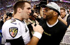 Ravens win Super Bowl. Flacco tied playoff record for most TDs (11) without a pick, Ray Lewis rides into retirement a champion.