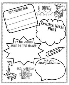 [Standardized] Test-Taking Poster to relieve some tension! This poster asks students to name 3 test taking tips; state why they're NOT worried about the test; list positive words; and to explain why they will get a GREAT grade. Check it out!!