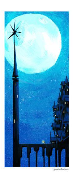 Lunar Tower Art Print