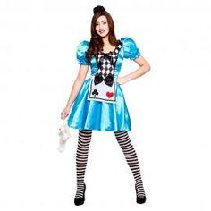 Ladies Adult Cute Storybook Alice In Wonderland Fancy Dress Costume Tights Alice Fancy Dress, Alice In Wonderland Fancy Dress, Fancy Dress Store, Fancy Dress Womens, Fancy Dress Up, Halloween Costumes Uk, Wicked Costumes, Halloween Kostüm, Adult Costumes