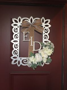 """Eid wreath for sale on Instagram """"Your_name_here"""""""