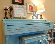 Un espacio muy chic para tu inspiración. Estancia para el piano.
