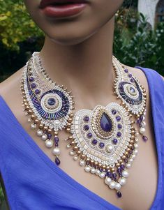 Necklace White Peacock by Rakupferamik on Etsy - Wow, I could never do this!!!