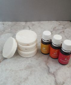 Shower Bombs with Essential Oils