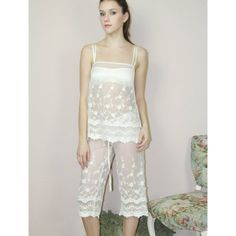 Sandmaiden lace camisole and pajama pants