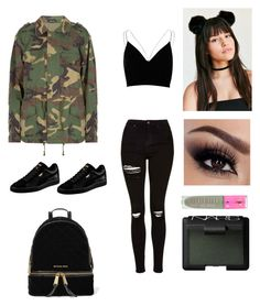 """"""""""" by georrgiace on Polyvore featuring Topshop, River Island, Puma, MICHAEL Michael Kors, Jeffree Star and NARS Cosmetics"""