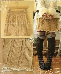 Sewing Clothes Refashion Remake Old Sweater 40 Ideas For 2019 Old Sweater, Sweater Skirt, Knit Skirt, Sweater Dresses, Diy Clothing, Sewing Clothes, Sewing Coat, Clothes Refashion, Ropa Upcycling