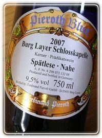 Schloss Burg Capelle-Supetoreze Liar [2007] Pieroth Blue