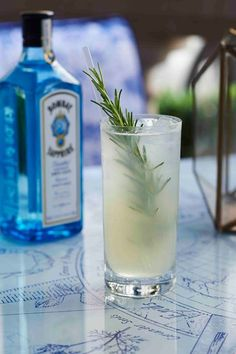 Bombay Sapphire Mediterranean Twist Bombay Sapphire knows how to celebrate the summer. The brand has just launched its very own gin-and-tonic bar at the Rosewood hotel — with a range of G